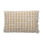 Bloomingville Cushion Yellow Check
