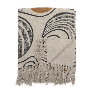 Bloomingville Throw Nature Recycled Cotton 130x160