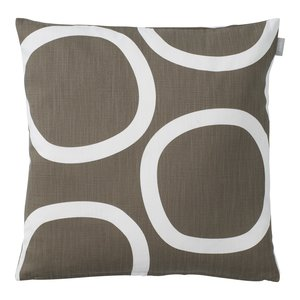 Spira of Sweden LOOP Cushion Cover brown 50x50 cm