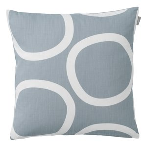 Spira of Sweden LOOP Cushion Cover light smoke blue 50x50 cm