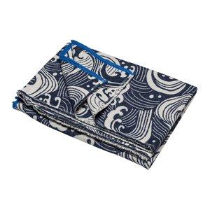 David Fussenegger LUCA Decke Wellen blau 140x200