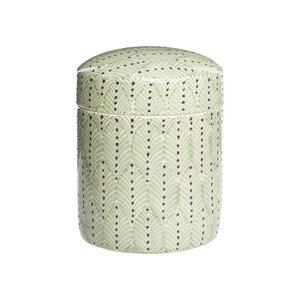 Tranquillo Keramikdose Ushio green 12x15 cm