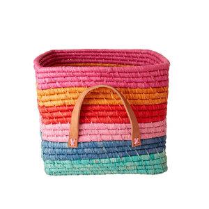 Rice Raffia Basket Choose Happy Stripes