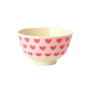 Rice Melamine Bowl small Sweet Hearts