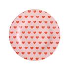 Rice Melamine Plate Sweet Hearts