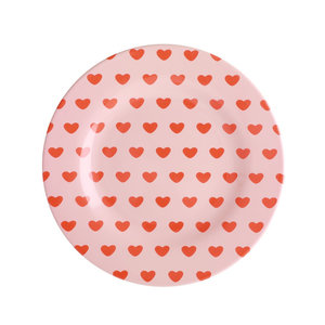 Rice Melamine Plate Sweet Hearts