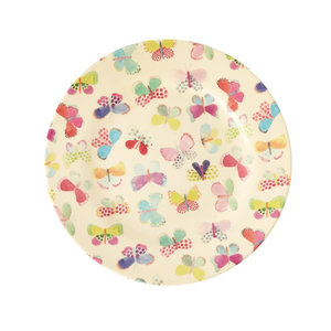 Rice Melamine Plate Butterfly