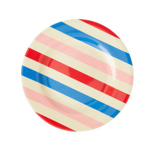 Rice Melamine Plate Candy Stripes