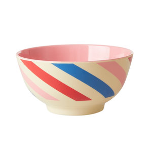 Rice Melamine Bowl small Candy Stripes