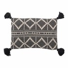 Bloomingville Cushion Black Recycled Cotton L60 W40