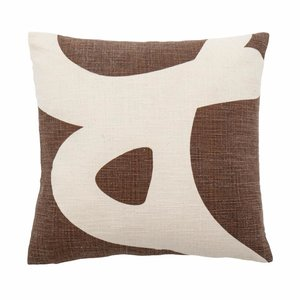 Bloomingville Ebrar Cushion Brown incl. Filling 40x40