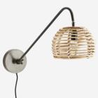 Madam Stoltz Wall Lamp w. Bamboo Shade 20x26x70 cm