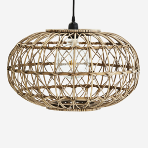 Madam Stoltz Rattan Ceiling Lamp natural D:48 H:28,5