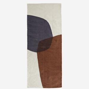 Madam Stoltz Hand woven Cotton Runner offwhite, sugar almond, grey 70x200