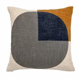 Bloomingville Cushion Graphic Multi Cotton 40x40 cm inkl Füllung