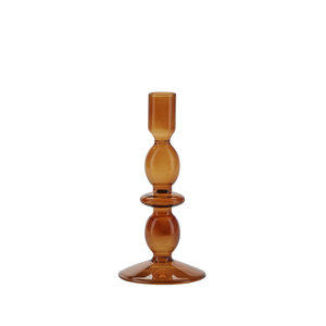Cozy Living Glass Candle Holder amber Glas gestrichen!