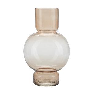 Cozy Living Glass Vase Large ocker Glas gestrichen!