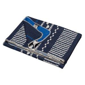 David Fussenegger SILVRETTA Decke Bordüre blau 140x200