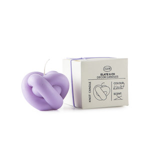 Knot Candle violet