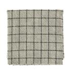 Madam Stoltz Checked Kitchen Towel Stonewashed Cotton Greige