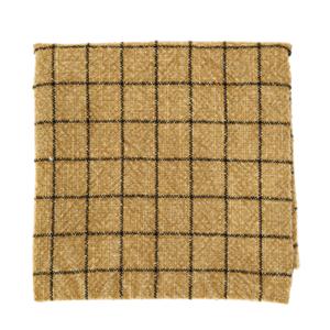 Madam Stoltz Checked Kitchen Towel Stonewashed Cotton Mustard 50x70