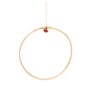 Madam Stoltz Hanging Bamboo Ring 30 cm
