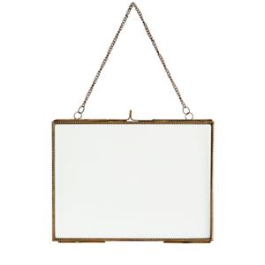 Madam Stoltz Hanging Photo Frame Ant.Brass/Glass 20x15