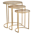 Madam Stoltz Iron Coffee Tables, Set of 3