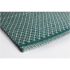 Aspegren Flor Mat Rhombe ocean green, 70x130 cm