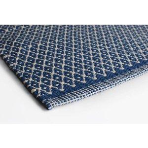 Aspegren Flor Mat Rhombe blue, 70x130 cm