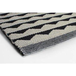 Aspegren Flor Mat Tops schwarz-weiß, 70x130 cm
