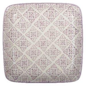 IB Laursen Tablett / Teller Casablanca lila quadratisch