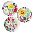 Rice Melamine Dinnerplates Embroydered Flowers