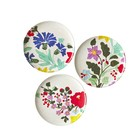 Rice Melamine Side Plates Embroydered Flowers