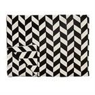 Hübsch Baumwolldecke mit Muster schwarz weiß