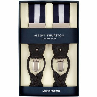 Albert Thurston Braces Blue Silver