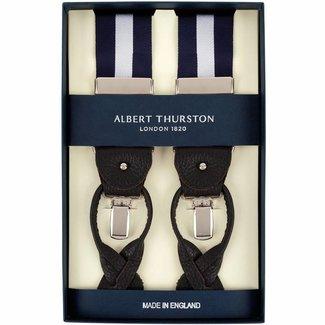 Albert Thurston Bretels Blauw Zilver