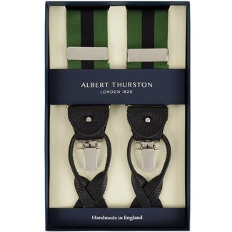Albert Thurston Braces Green Black