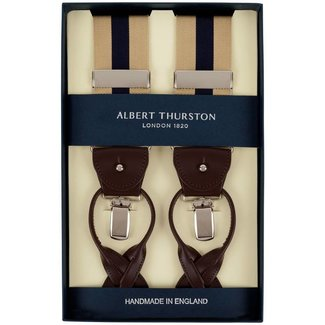 Albert Thurston Braces Beige Blue