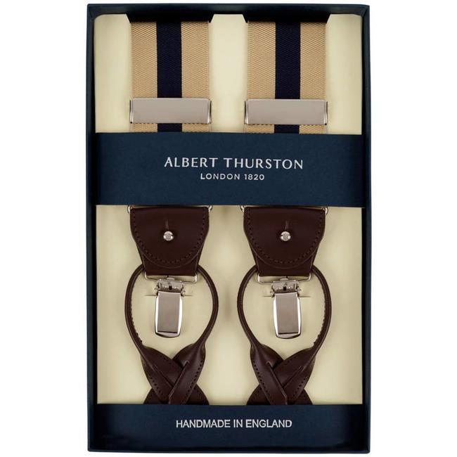 Albert Thurston Braces Beige Blue
