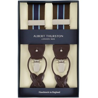 Albert Thurston Braces Brown Blue