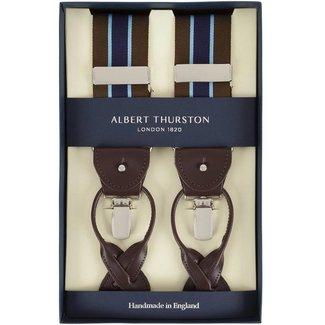 Albert Thurston Hosenträger Braun Blau