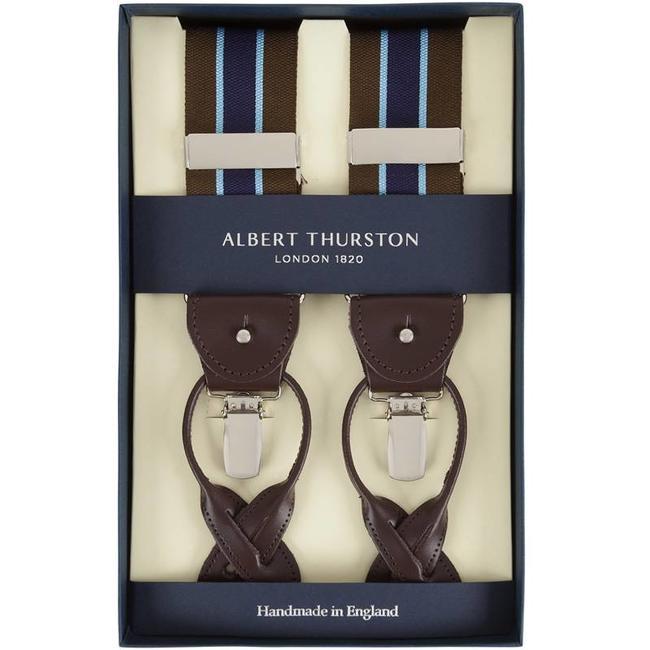 Albert Thurston Braces Brown Blue