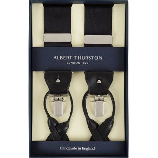 Albert Thurston Braces Black Moiré