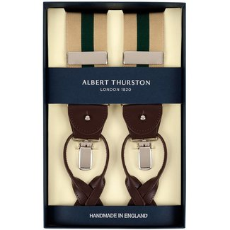 Albert Thurston Braces Beige Green