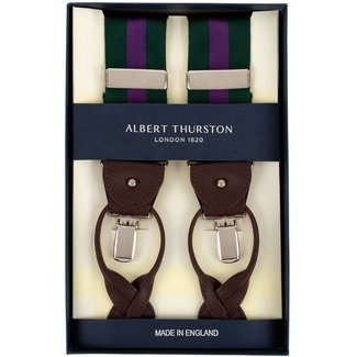 Albert Thurston Braces Green Purple