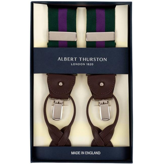 Albert Thurston Braces Green Purple