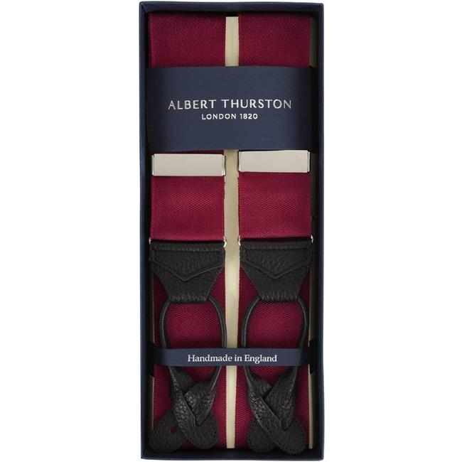Albert Thurston Hosenträger Weinrot