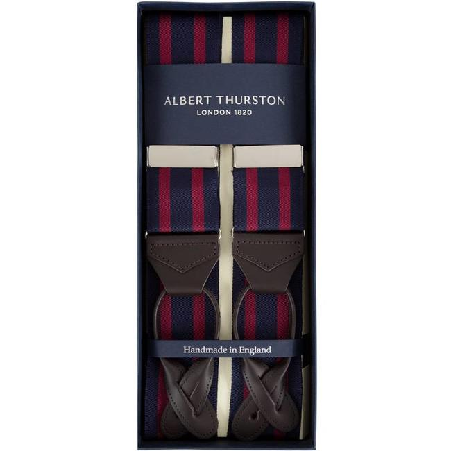 Albert Thurston Bretels Navy Bordeaux