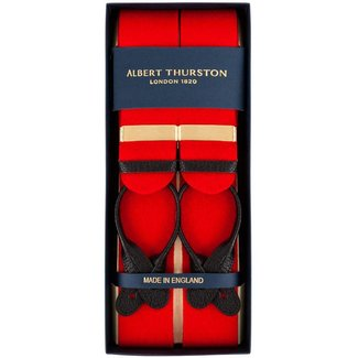 Albert Thurston Braces Red Boxcloth